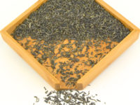 Fo Mei organic green tea 2014 dry tea leaves