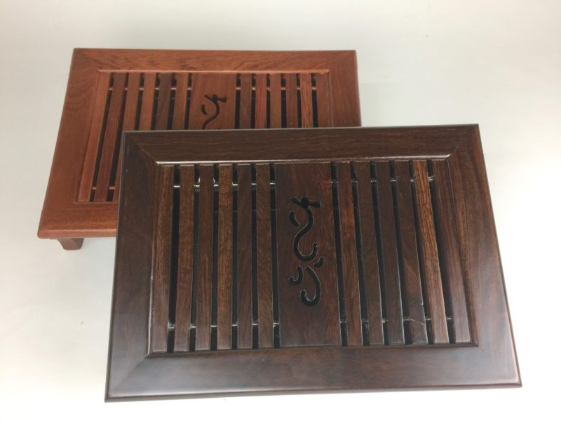 Fly Little Dragon Tea Tray Rosewood and Ebony