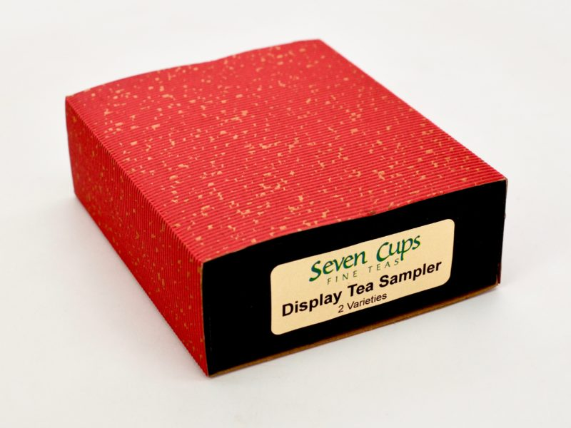 A closed rectangular paper gift box.
