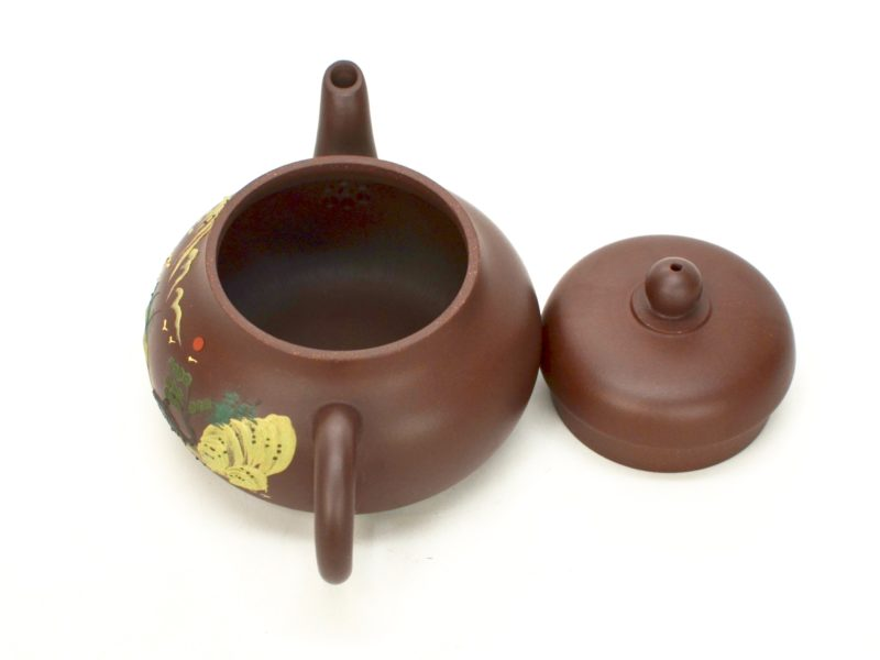 Jun De zi ni yixing clay pot with lid open